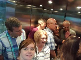 Nine Americans and two Italians stuck in a Ukrainian elevator. Welcome to Ukraine!